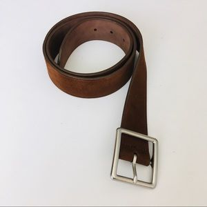 Gap Leather Brown Suede Belt, Size 34